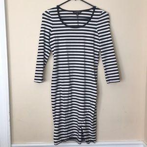 Express xs striped dress